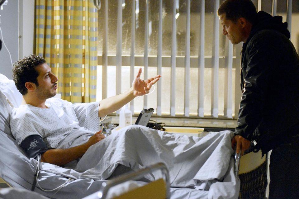 """Quoten-Hit """"Tatort - Willkommen in Hamburg"""": Yardim muss seinen ersten Fall vom Krankenhausbett aus lösen."""