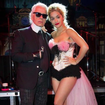 Karl Lagerfeld und Rita Ora