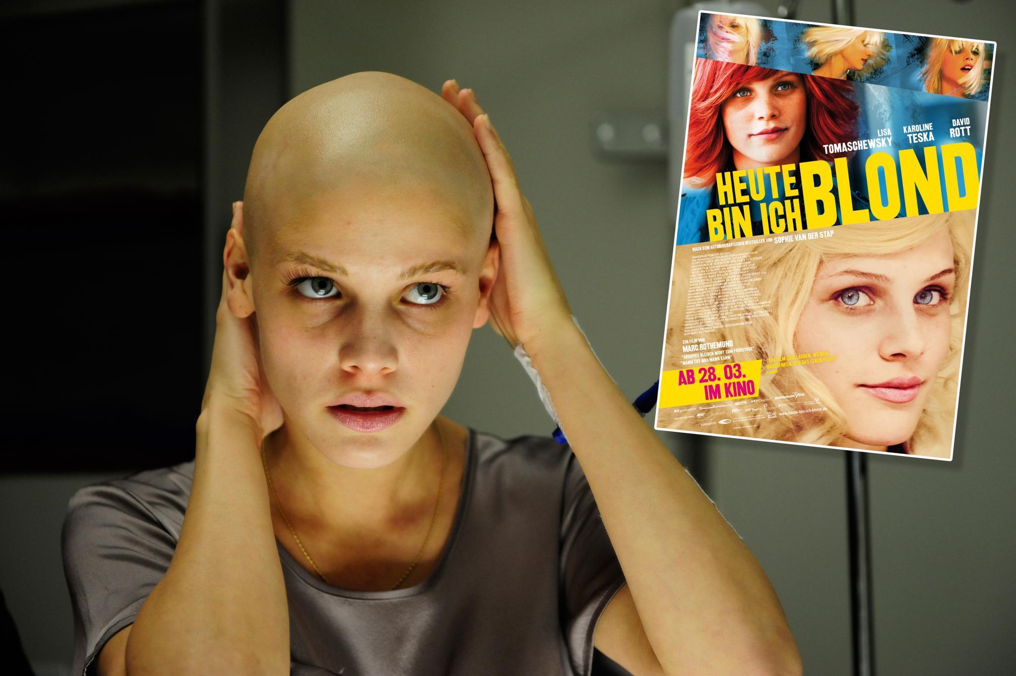 """Jetzt im Kino: Als krebskranke Sophie lässt sich Lisa Tomaschewsky in """"Heute bin ich blond"""" nicht unterkriegen."""