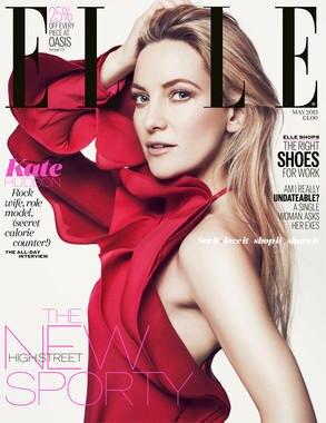Kate Hudson auf dem Cover der britischen Elle.