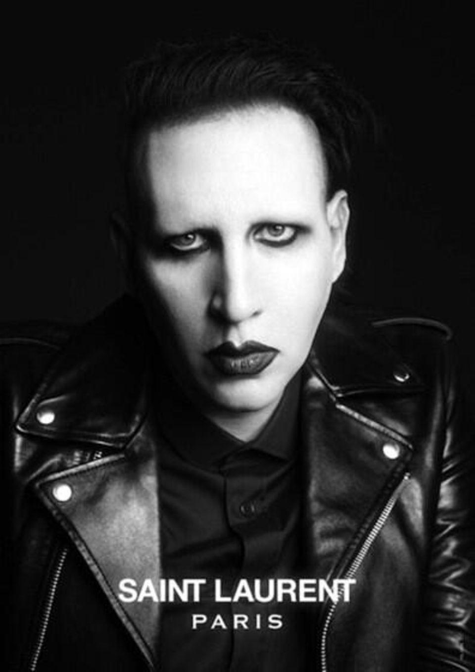 Marilyn Manson ist das neue Gesicht der Männerlinie von Saint Laurent.