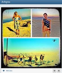 """Bar Refaeli twitterte dieses Bild vom Dreh ihrer gefloppten Castingshow """"Million Dollar Shootingstar""""."""