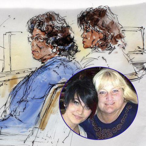 Katherine Jackson und ihre Tochter Rebby sitzen im Gerichtssaal