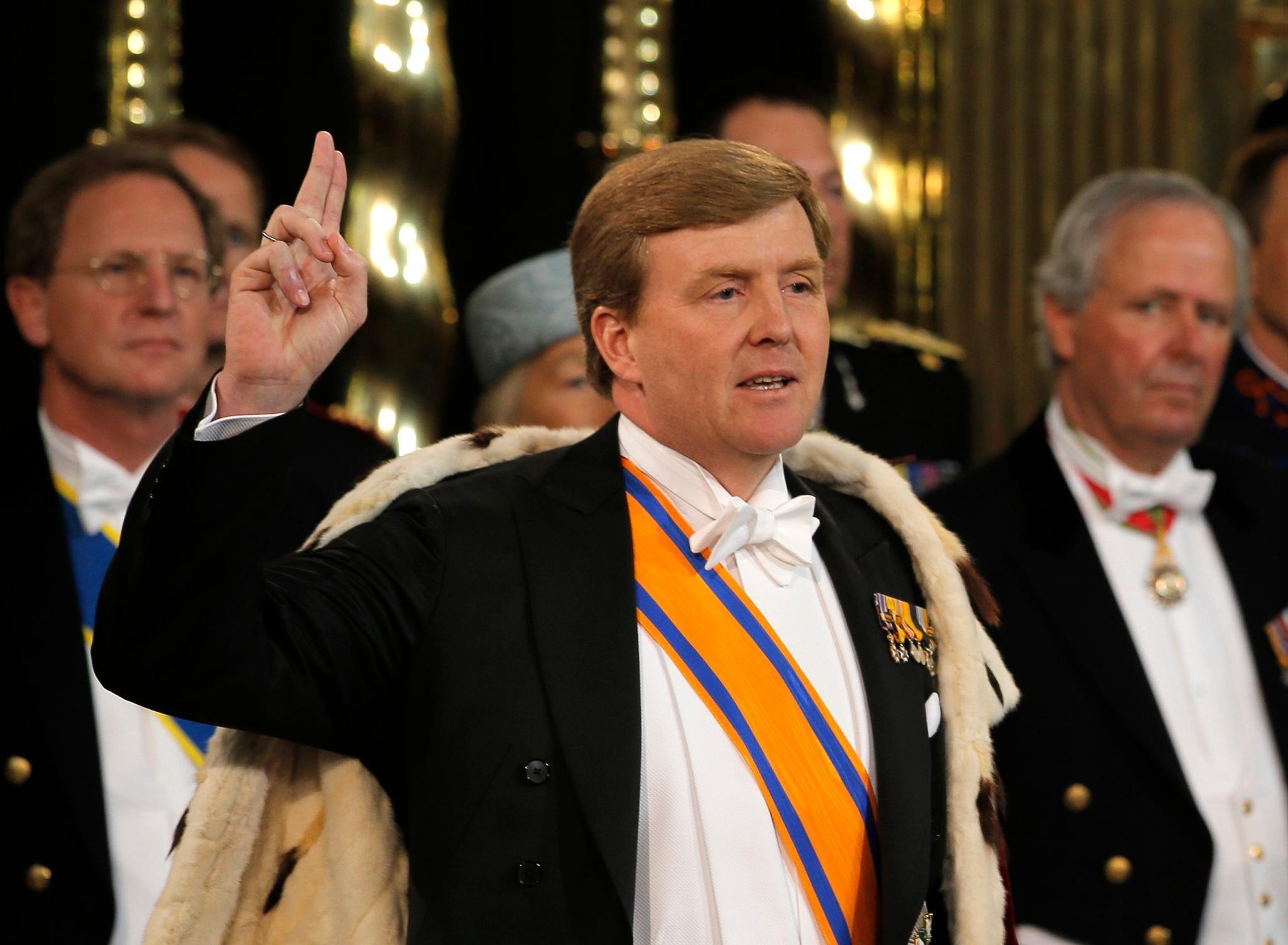 König Willem-Alexander schwört den Eid auf die Verfassung.