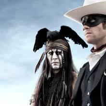 """Johnny Depp (und Arnie Hammer) in """"The Lone Ranger"""" - Plakat"""