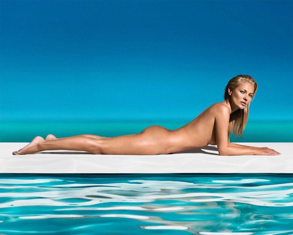"""Kate Moss ist das neue Werbegesicht für die Selbstbräuner von """"St. Tropez""""."""