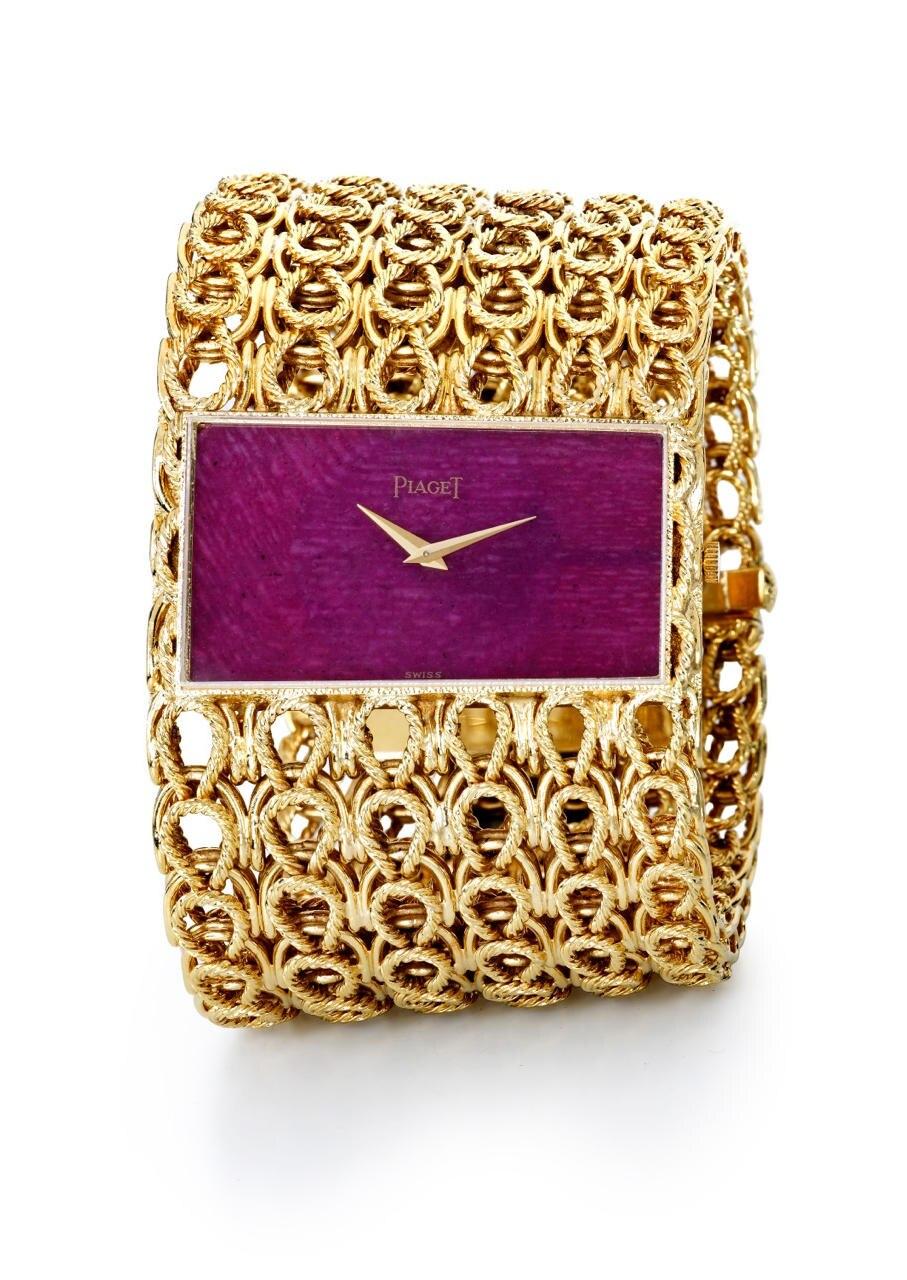 Design aus den Siebzigern: Roségold-Uhr von Piaget, Preis auf Anfrage
