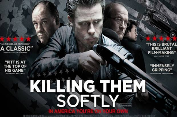"Filmplakat zu ""Killing Them Softly"", im Kino September 2012, auf DVD Mai 2013"