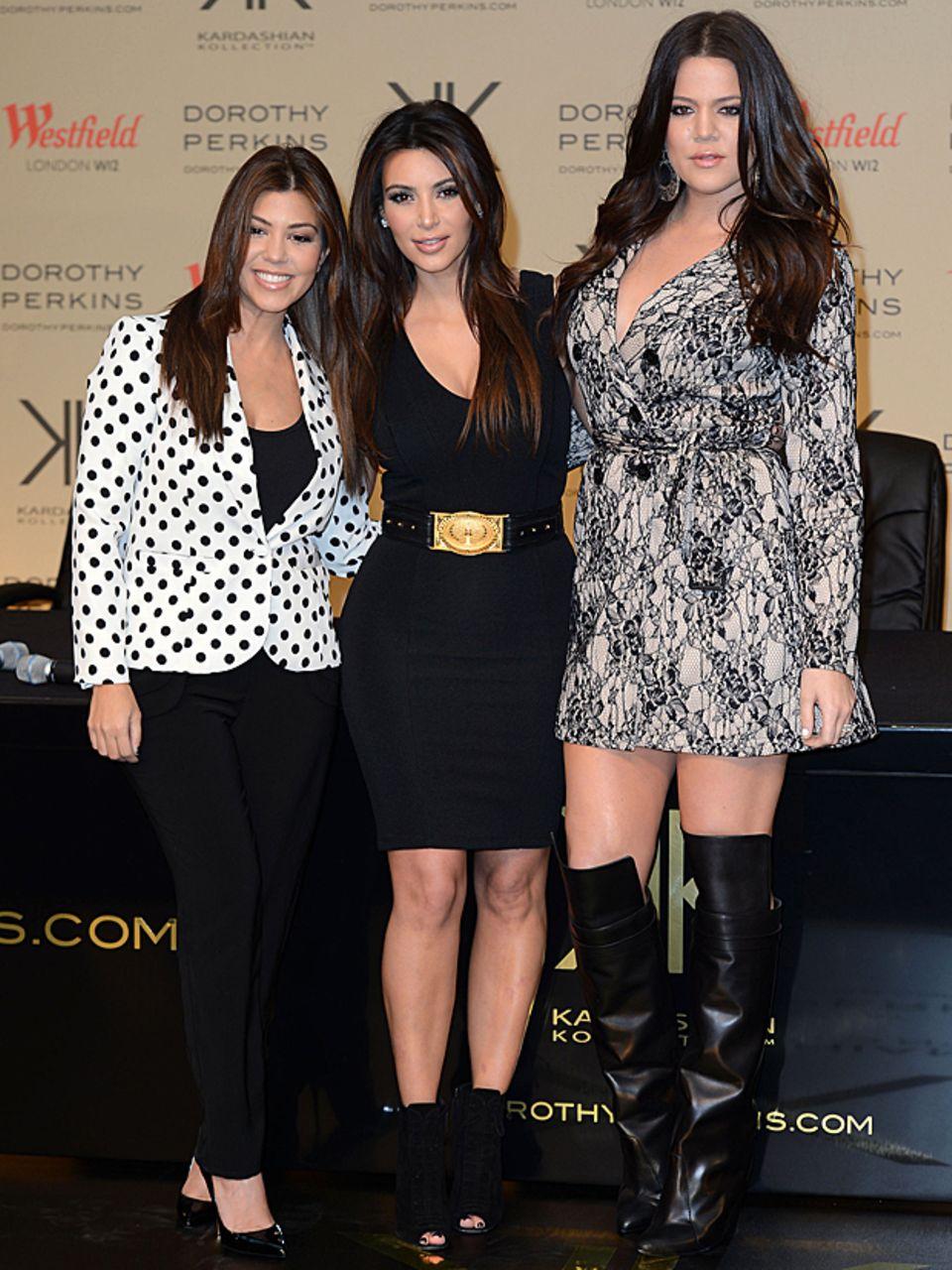 Zum Vergleich: Noch im vergangenen Jahr war Khloe zweifellos die fülligste Kardashian-Schwester.
