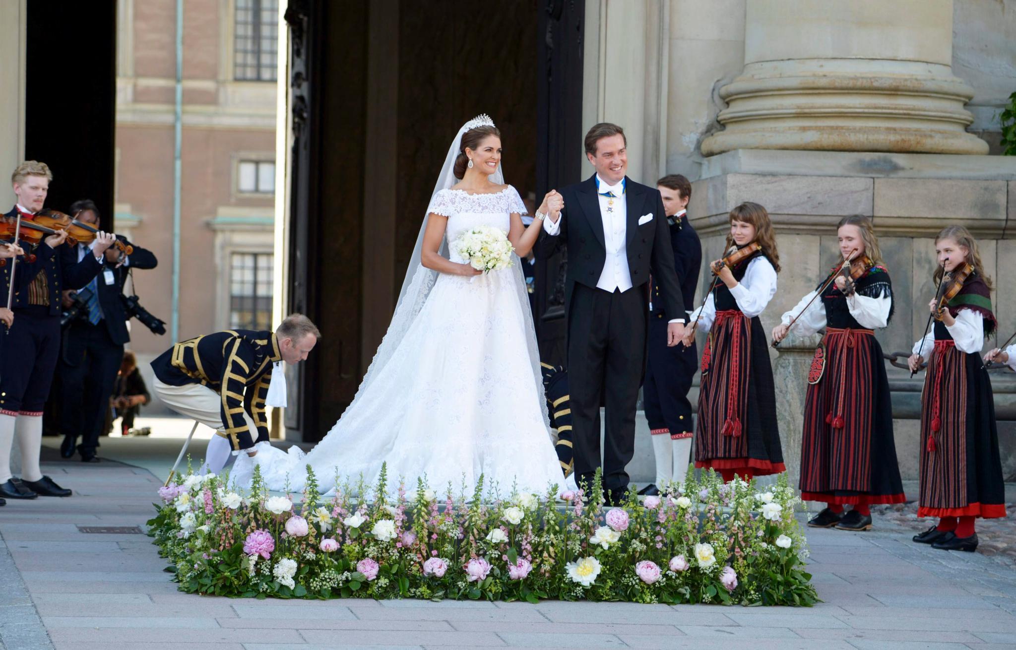 Ein bisschen Tradition, ein bisschen eigener Stil: Prinzessin Madeleine und Chris O'Neill setzten eigene Akzente.