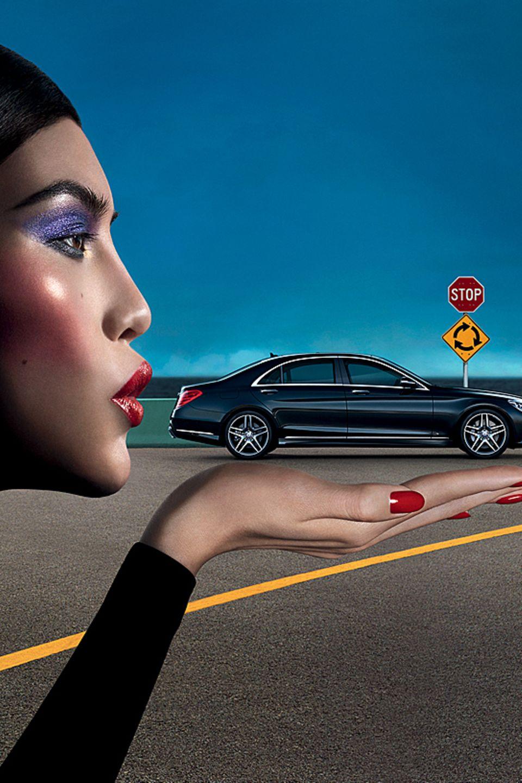Sui He in der Kampagne für die Mercedes Benz Fashion Week Berlin 2013