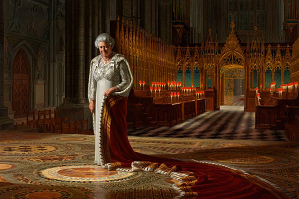 """28. September 2012: In Australiens Hauptstadt Canberra wird in der """"National Portait Gallery"""" das neue offizielle Porträt der Qu"""