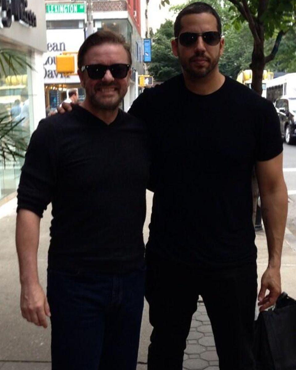 Zufall oder Magie? Auch Ricky Gervais hat David Blaine getroffen.
