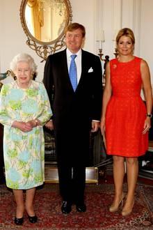 Königin Elizabeth II. empfängt König Willem-Alexander und Königin Maxima der Niederlande in Schloss Windsor