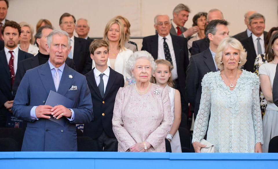 """Prinz Charles, Queen Elizabeth und Herzogin Camilla auf der """"Coronation Festival Evening Gala"""""""