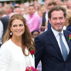 Prinzessin Madeleine und Chris O'Neill sind aus New York angereist.