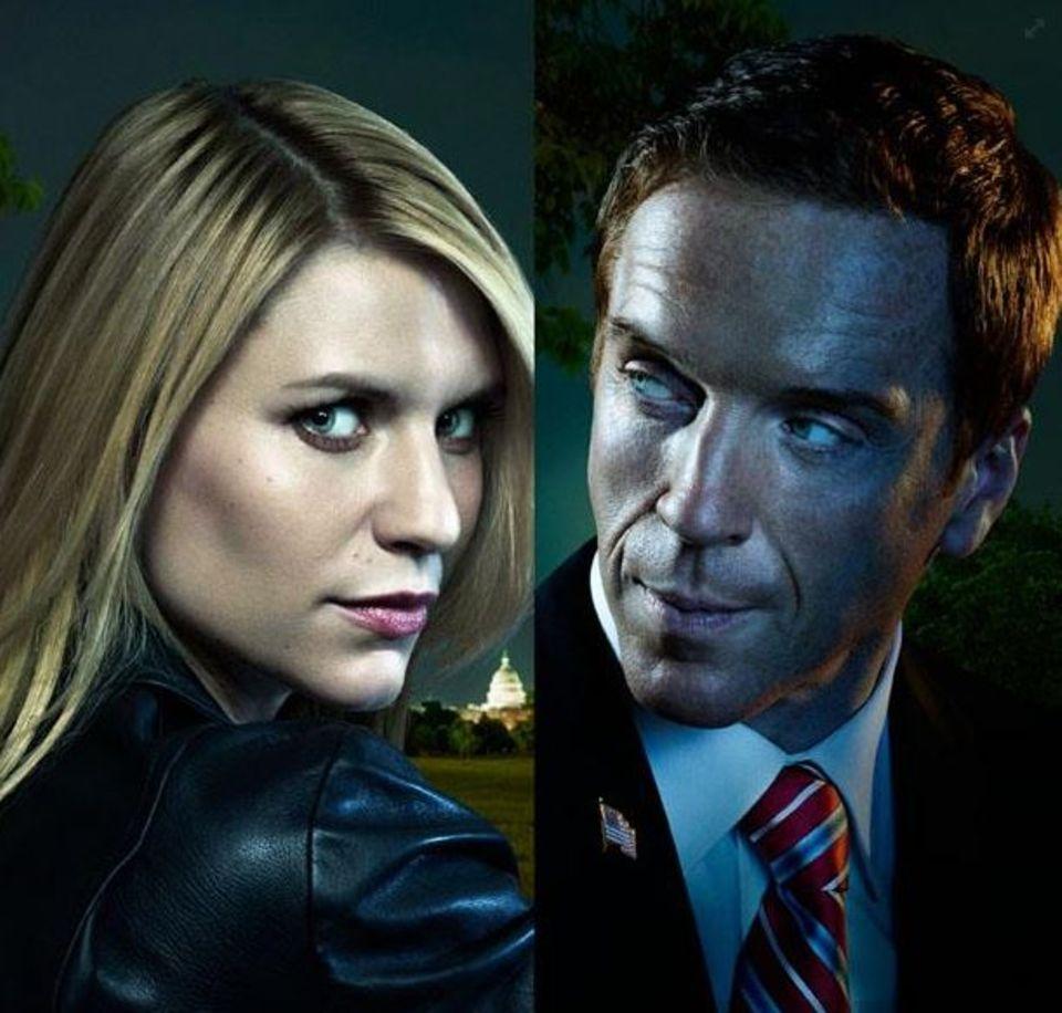 """Claire Danes und Damian Lewis als CIA-Agentin """"Carrie Mathison"""" und Ex-Soldat """"Nicholas Brody"""" in der Serie """"Homeland""""."""