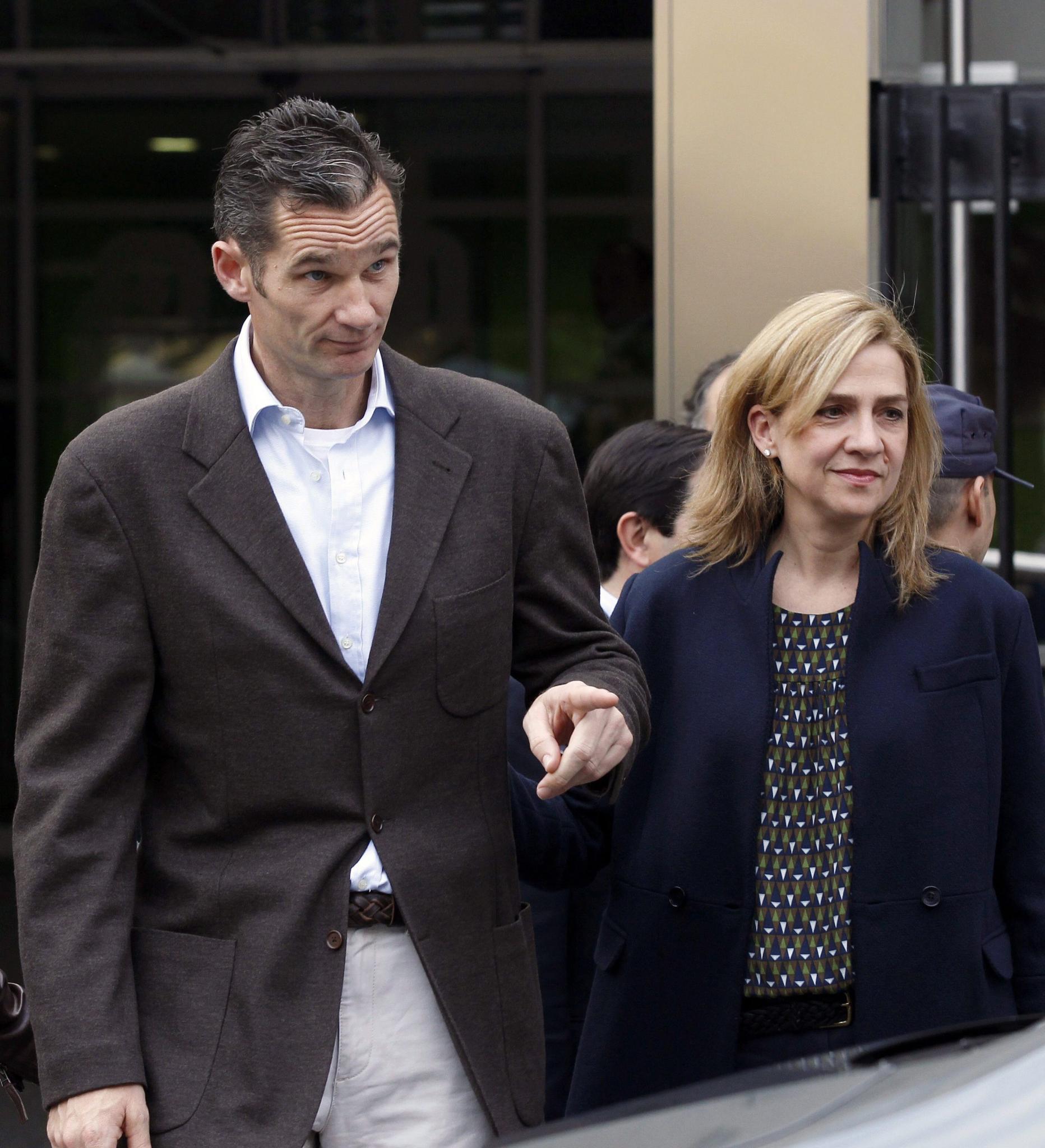 Im Visier der Justiz: Infantin Cristinas Ehemann Iñaki Urdangarín muss sich wegen Korruptionsverdachts vor Gericht verantworten. Sie selbst wurde kürzlich des Steuerbetrugs verdächtigt.