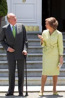 König Juan Carlos, Königin Sofia, Prinz Felipe, Prinzessin Letizia, Prinzessin Infanta Elena