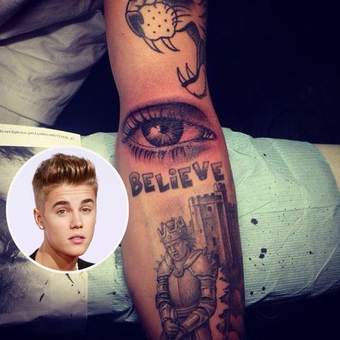 Justin Bieber und sein neues Tattoo