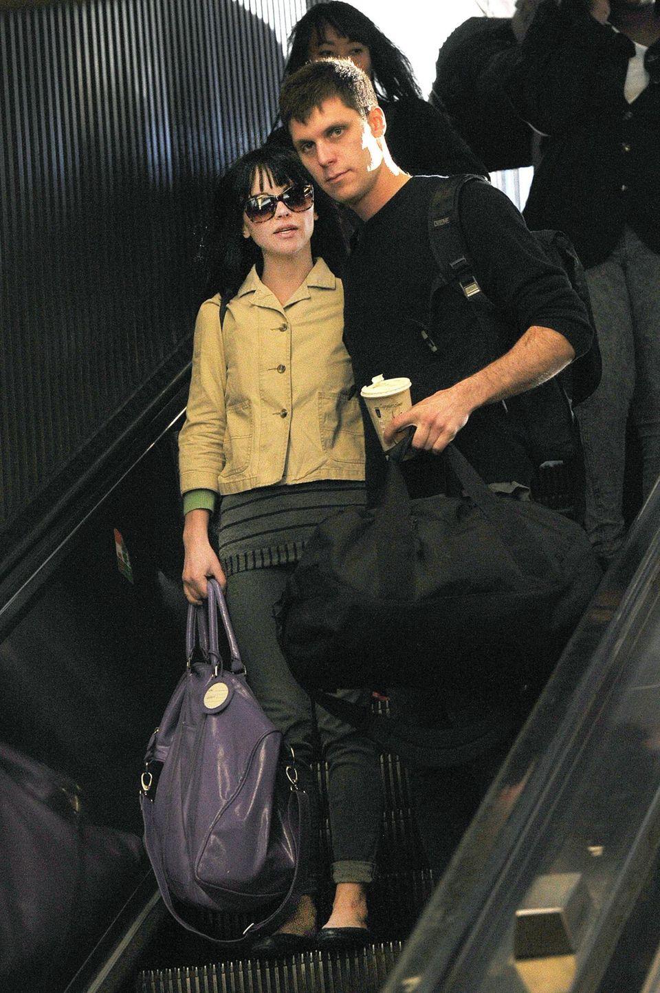 Christina Ricci und ihr Verlobter James Heerdegen, ein Kameramann, den sie bei Dreharbeiten traf.