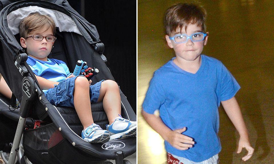 Wenn schon Brille, dann bitte abwechslungsreich! Der kleine Sohn von Latino-Star Ricky Martin findet eine einzige Brille viel zu langweilig. Lieber wechselt er sie je nach Outfit durch - wie hier die Modelle in Braun und Blau.