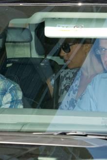 Herzogin Catherine und Prinz William verlassen den Kensinton Palace am 24. Juli Richtung Bucklebury.