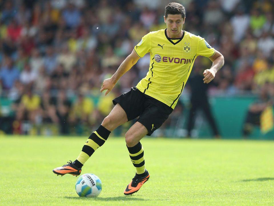 Seit 2010 ist der Pole Robert Lewandowski Torjäger bei Borussia Dortmund.