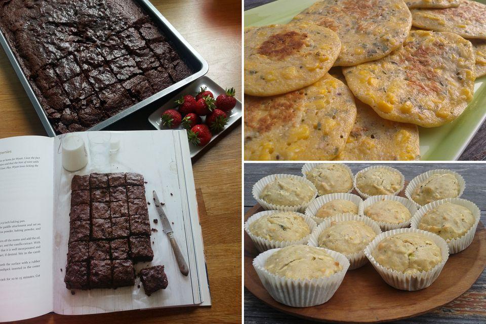 """""""Vegan Chocolate-Mint Brownies"""", """"Corn and Thyme Pancakes"""" und """"Zucchini Muffins"""" - gesundes Essen kann echt lecker sein."""