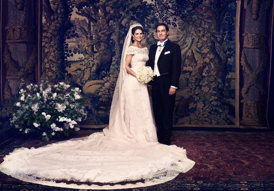 Das offizielle Hochzeitsfoto von Prinzessin Madeleine und Chris O'Neill