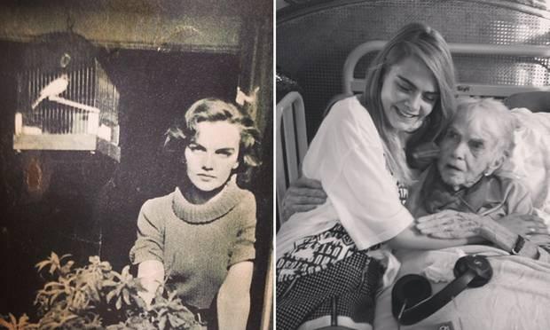 Zwei Bilder, die Cara zum 101. Geburtstag ihrer Oma Margo postete, zeigen die Ähnlichkeit der beiden: prägnante Augenbrauen, ein sexy Blick und sehr zarte, ebenmäßige Gesichtszüge.
