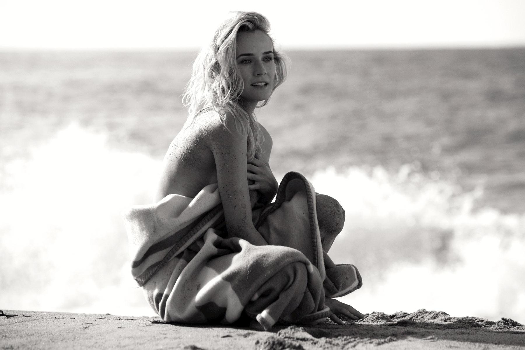 Für die neue Skin-Care- Kampagne von Chanel fotografierte Peter Lindbergh Diane Kruger in Los Angeles.