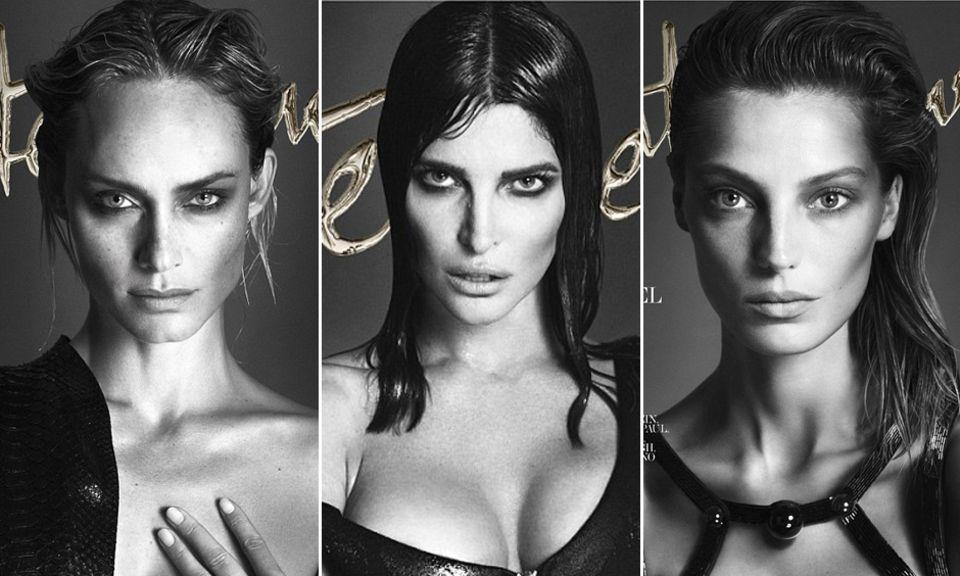 Amber Valetta, Stephanie Seymour und Daria Werbowy gehören zu den sieben Schönheiten, die das Cover der Septemberausgabe zieren.