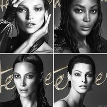 "Kate Moss, Naomi Campbell, Christy Turlington und Linda Evangelista für ""Interview""-Magazin"