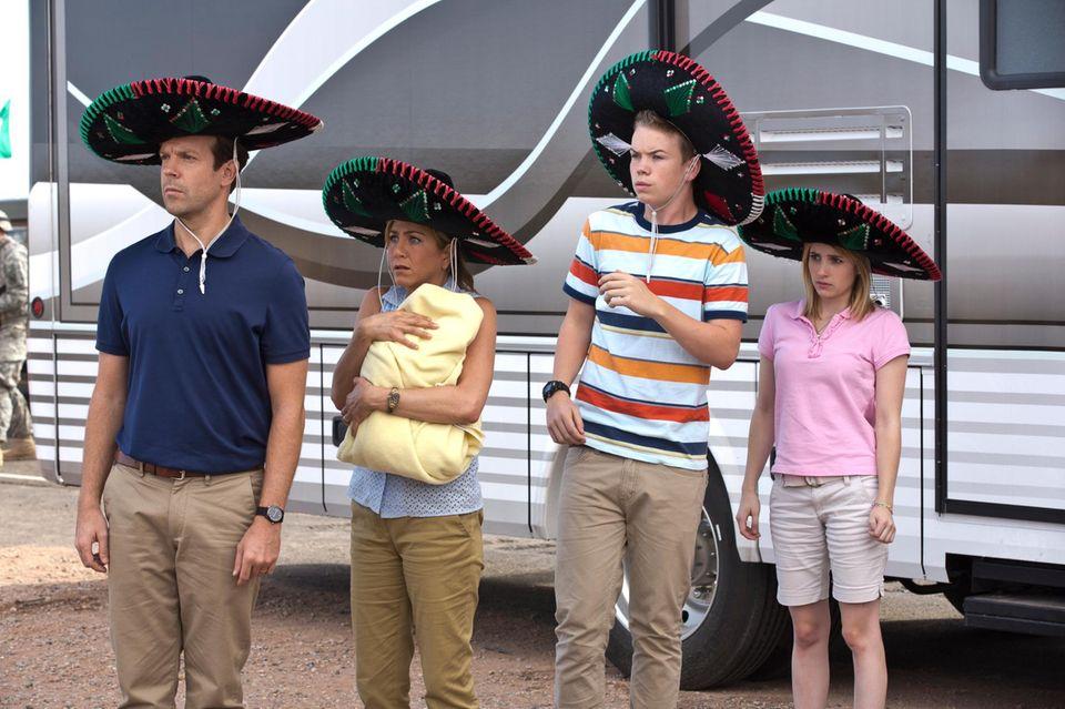 Eine schrecklich nette Familie: Jason Sudeikis, Jennifer Aniston, Will Poulter und Emma Roberts sind die Millers.
