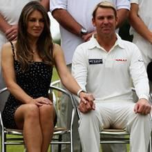 Elizabeth Hurley und Shane Warne