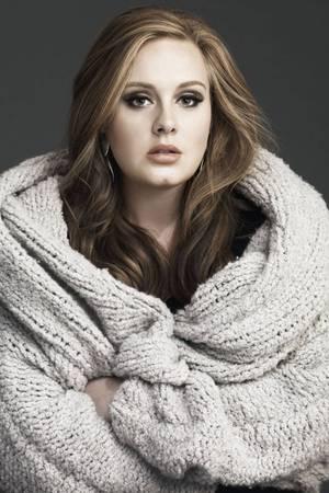Kuschelalarm: Popstar Adele im Stricknirvana