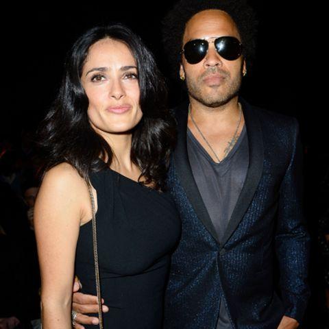 Salma Hayek und Lenny Kravitz