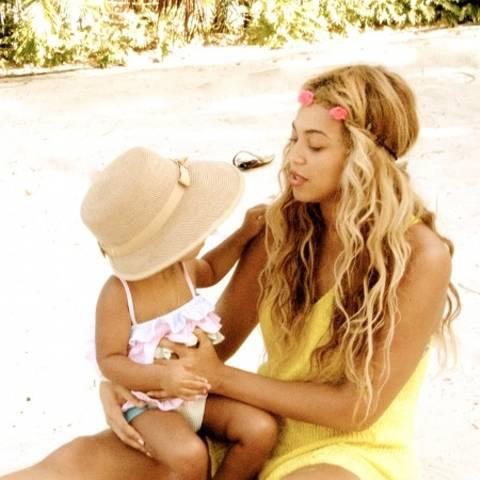Beyoncé Knowles und Blue Ivy