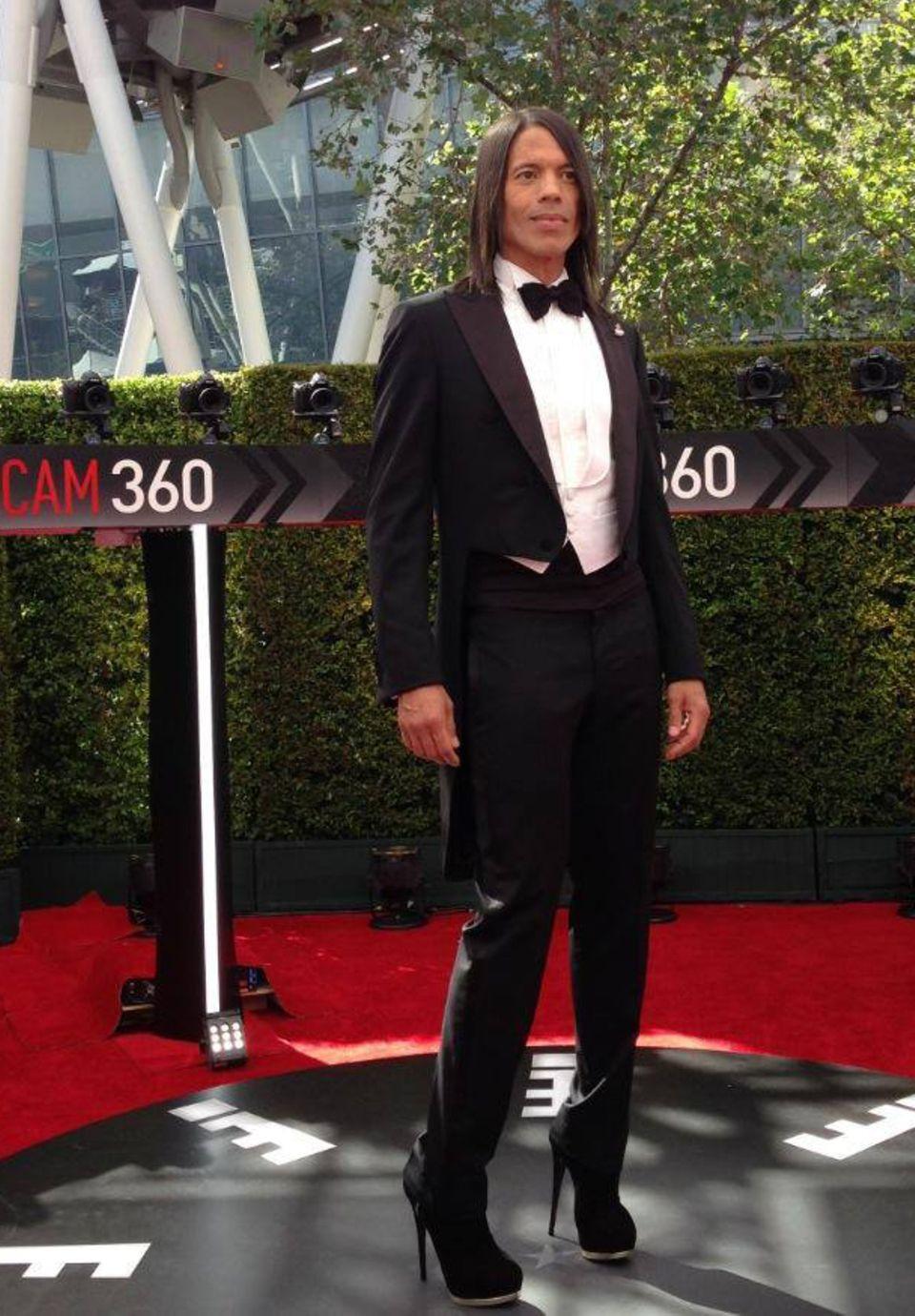 """Jorge Gonzalez bei der Emmy-Verleihung. Eingeladen wurde er vom Sender """"E! Entertainment"""", bei dem er seinen ersten Talk moderieren wird."""