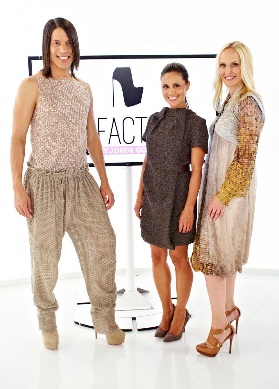 """In """"E! Factor"""" wird Jorge Gonzalez von """"Gala""""-Society-Expertin Anne Meyer Minnemann unterstützt. In der ersten Sendung wird Nazan Eckes für """"Gala"""" gestylt."""