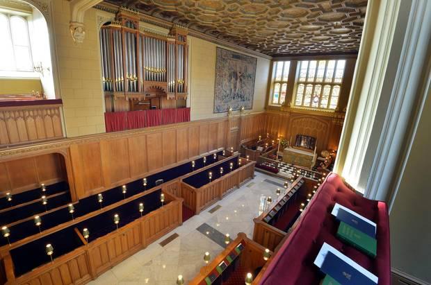 """Das Innere der """"Chapel Royal"""", in der sich die Taufgesellschaft rings um Prinz George versammeln wird."""