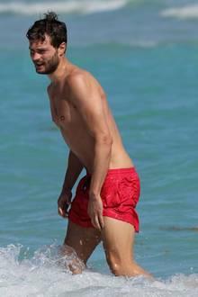 Jamie Dornan am Strand von Miami (2013)