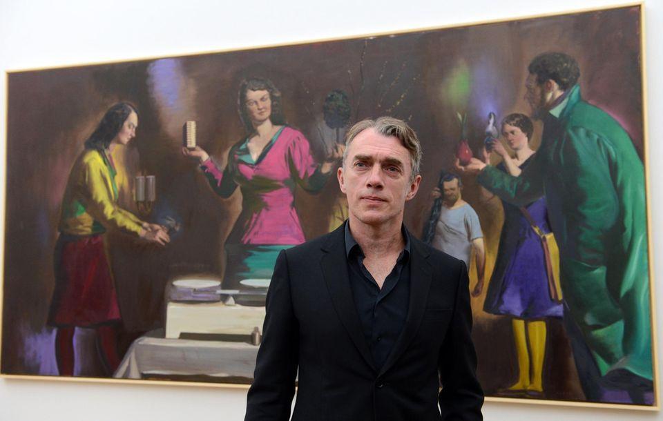 """Neo Rauch: Für ein Bild des Künstlers im Stil des """"Magischen Realismus"""" muss man einen hohen sechsstelligen Betrag hinlegen. Er gilt als wichtigster Vertreter der """"Leipziger Schule""""."""