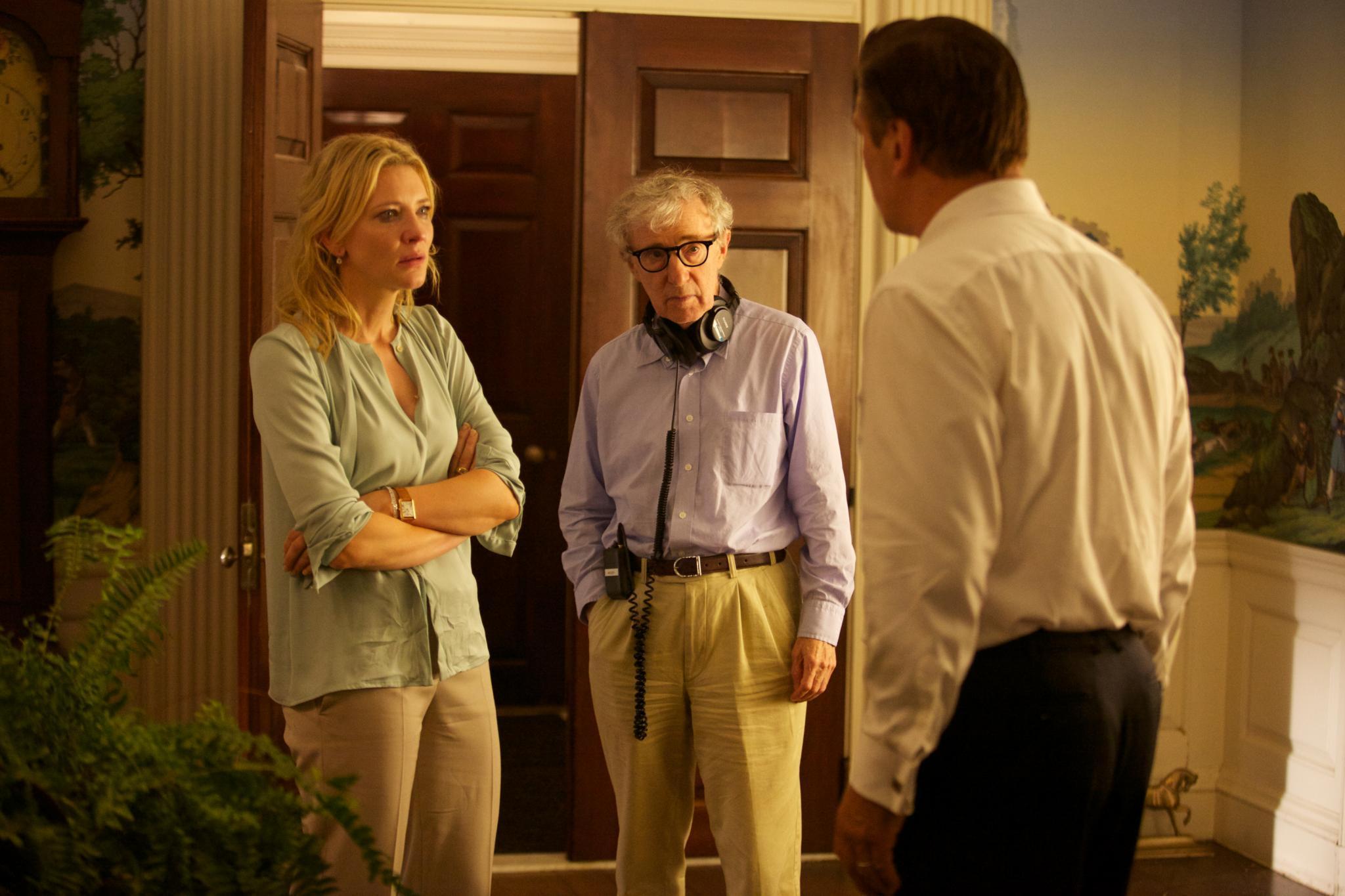 """Am Set von """"Blue Jasmine"""": Cate Blanchett, Regisseur Woody Allen und Alec Baldwin."""