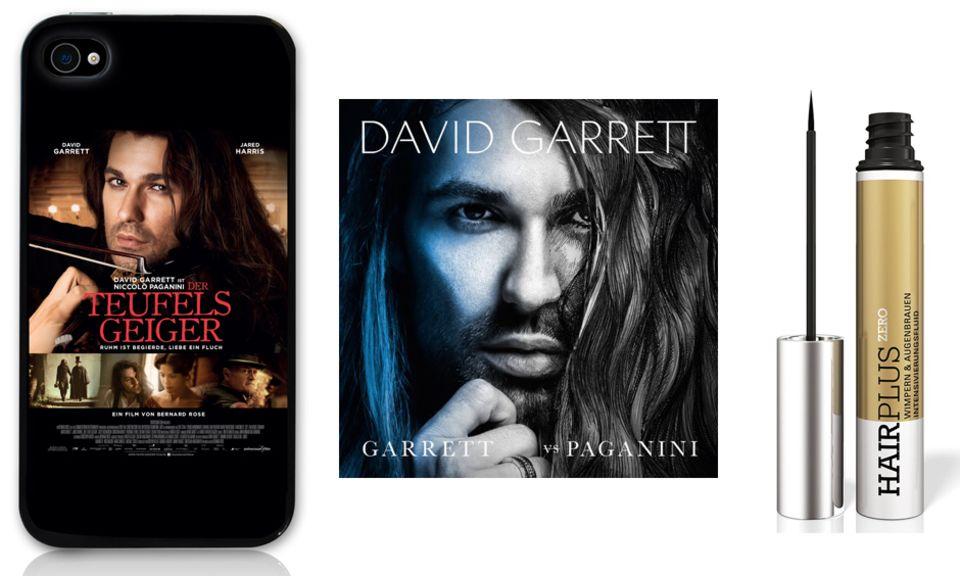 """In den Fanpaketen enhalten: Drei tolle iPod-Hüllen zum Film, David Garretts neues Album """"Garrett vs. Paganini"""" und das Intensivierungsfluid für Augenbrauen und Wimpern von """"Hairplus Zero""""."""