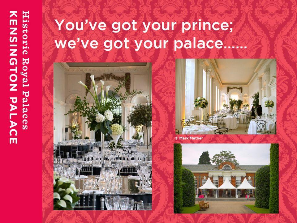 So stellt sich die Orangerie im Werbeflyer als Hochzeitslocation vor.