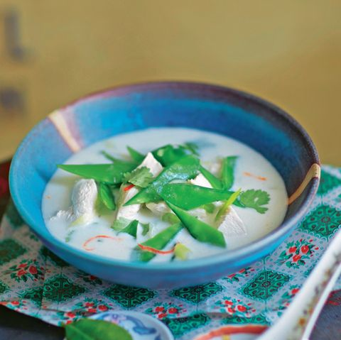 Kokos-Hühner-Suppe