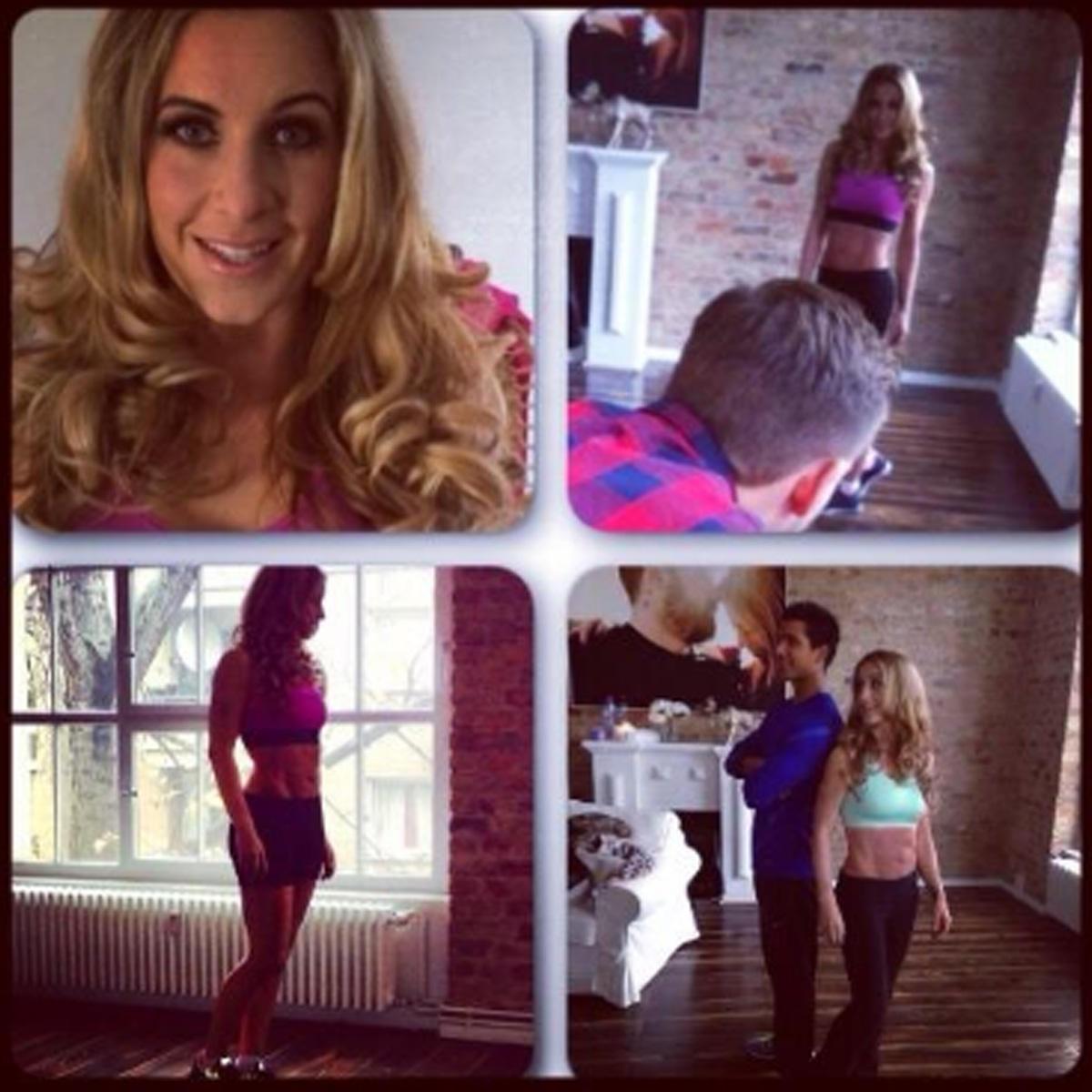Stolz postet Charlotte Würdig die Ergebnisse ihres Fitnessprogramms auf Twitter.