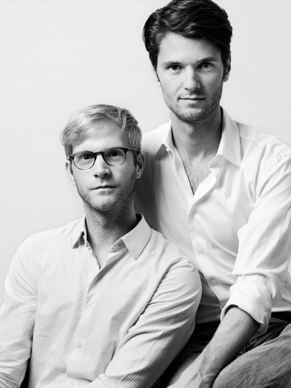 Hoffnungsträger der jungen deutschen Mode: Oliver Lühr (l.) ist der kreative Kopf, Thomas Bentz kümmert sich vor allem ums Management. Alle wichtigen Entscheidungen treffen sie gemeinsam